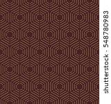 geometric repeating golden... | Shutterstock .eps vector #548780983