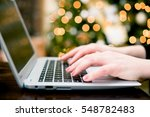 last minute holiday shopping.... | Shutterstock . vector #548782483