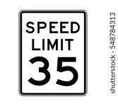 Speed Limit 35 Traffic Light O...