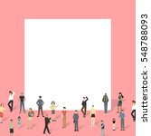 group of people with big board. | Shutterstock .eps vector #548788093