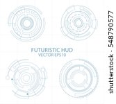 abstract circle futuristic... | Shutterstock .eps vector #548790577