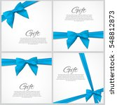 gift card with ribbon and bow...   Shutterstock .eps vector #548812873