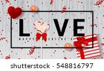 happy valentine's day web... | Shutterstock .eps vector #548816797