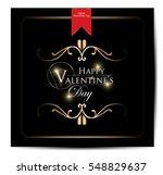 valentines day vintage... | Shutterstock .eps vector #548829637