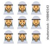 traditional arab man emotion...   Shutterstock .eps vector #548840143