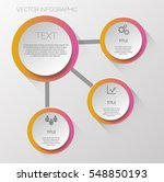 four color steps infographics... | Shutterstock .eps vector #548850193