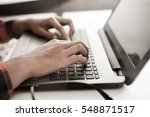 programmer typing new lines of... | Shutterstock . vector #548871517