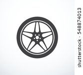 vector car wheel icon | Shutterstock .eps vector #548874013