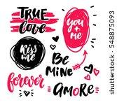 valentine s day lettering... | Shutterstock .eps vector #548875093