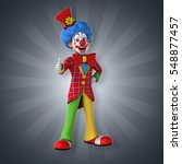 Fun Clown   3d Illustration