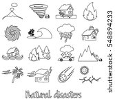 various natural disasters... | Shutterstock .eps vector #548894233