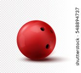 red bowling ball isolated on... | Shutterstock .eps vector #548894737