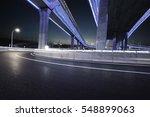 empty road floor with city... | Shutterstock . vector #548899063