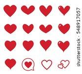 heart icon vector   love symbol ... | Shutterstock .eps vector #548917057