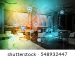 modern room interior and... | Shutterstock . vector #548932447