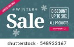 winter sale social network... | Shutterstock .eps vector #548933167