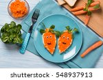funny toasts in a shape of... | Shutterstock . vector #548937913