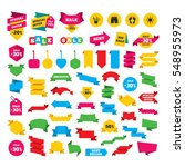 web stickers  banners and... | Shutterstock . vector #548955973