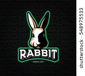 vector rabbit head logo design... | Shutterstock .eps vector #548975533