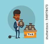 chained to a ball taxpayer... | Shutterstock .eps vector #548978473