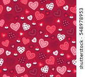 valentine seamless pattern with ...