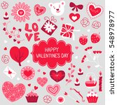 collection of valentine... | Shutterstock .eps vector #548978977