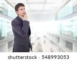 young business man thinking  at ... | Shutterstock . vector #548993053