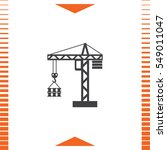 construction crane vector icon. ... | Shutterstock .eps vector #549011047