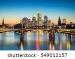 frankfurt am main. cityscape... | Shutterstock . vector #549012157