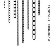 set of metal chain and elements ... | Shutterstock .eps vector #549018763
