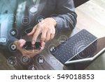 top view of businessman hand... | Shutterstock . vector #549018853