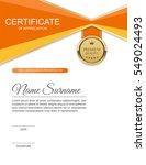vector certificate template. | Shutterstock .eps vector #549024493