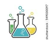 chemical test tube pictogram... | Shutterstock .eps vector #549030097