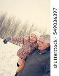 grandfather carries... | Shutterstock . vector #549036397