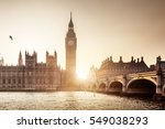 big ben and westminster at... | Shutterstock . vector #549038293