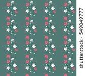 seamless delicate pattern of... | Shutterstock .eps vector #549049777