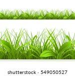 spring green grass  seamless... | Shutterstock . vector #549050527
