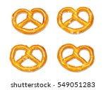 cookies bretzels on a white... | Shutterstock . vector #549051283