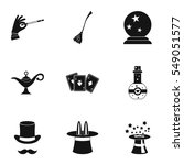 tricks icons set. simple... | Shutterstock . vector #549051577