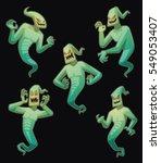 vector set of five cartoon... | Shutterstock .eps vector #549053407