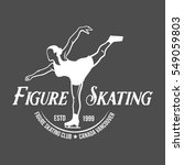 ice skate label logo design.... | Shutterstock .eps vector #549059803