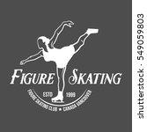 ice skate label logo design....   Shutterstock .eps vector #549059803