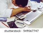 accountant businessman working... | Shutterstock . vector #549067747
