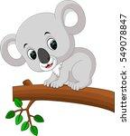 cute koala cartoon | Shutterstock .eps vector #549078847