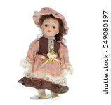 Cute Porcelain Doll   Isolated...