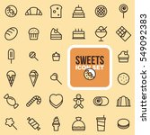 sweets icon set  simple and... | Shutterstock .eps vector #549092383
