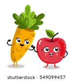 cute fruit and vegetable... | Shutterstock .eps vector #549099457