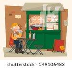 vector illustration of roadside ... | Shutterstock .eps vector #549106483