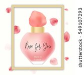 realistic perfume bottle with... | Shutterstock .eps vector #549107293