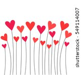 red hearts growing on stems....   Shutterstock .eps vector #549114007